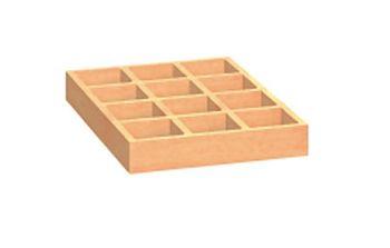 Holzschubladen Buche mit Facheinteilung 460x300x50mm