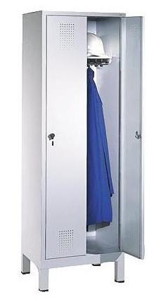 Garderobenschrank mit Füßen H 1850 x B 600 x T 500 mm 2 Abteile