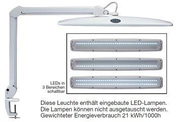 LED-Tischleuchte dimmbar mit 3-Bereichs-Schalter