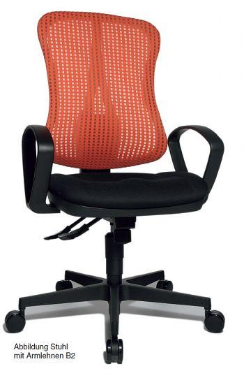 Komfort-Drehstuhl mit taillierter Netz-Rückenlehne