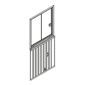 zusätzl. Alu-Schiebefenster