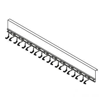 Geräteleiste mit Aufhängevor- richtung für 10 Stielgeräte