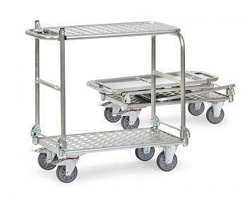 Alu-Klappwagen mit Tischplattform Ladefläche 720 x 450 mm