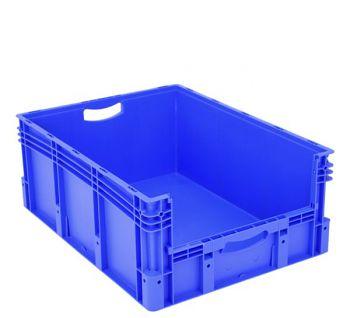 Euro-Stapelbehälter mit Entnahme- öffnung blau BxLxH 800 x 600 x 320 mm