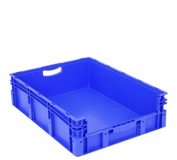 Euro-Stapelbehälter mit Entnahme- öffnung BxLxH 800 x 600 x 220 mm