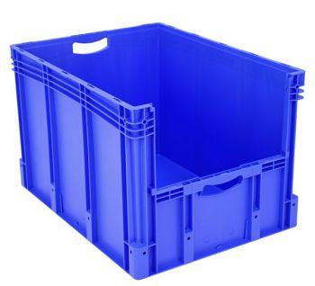 Euro-Stapelbehälter mit Entnahme- öffnung BxLxH 800 x 600 x 520 mm