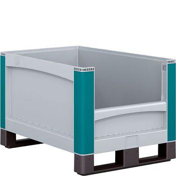 Schwerlastbehälter m. Entnahmeöffnung stirnseiting LxBxH 800 x 600 x 720 mm