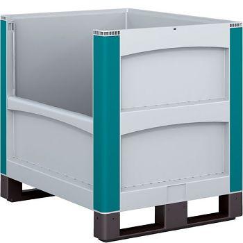 Schwerlastbehälter m. Entnahmeöffnung längsseiting LxBxH 800 x 600 x 720 mm