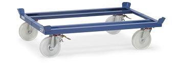Trolleys für Routenzug, blau RAL 5007 Tragkr. 1050 kg, Ladef. 1210 x 1000mm