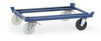 Trolleys für Routenzug, blau RAL 5007 Tragkr. 1050 kg, Ladef. 1210 x 810 mm