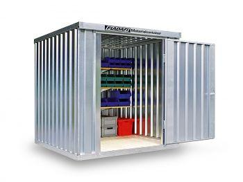 Material-Lagercontainer verzinkt, montiert