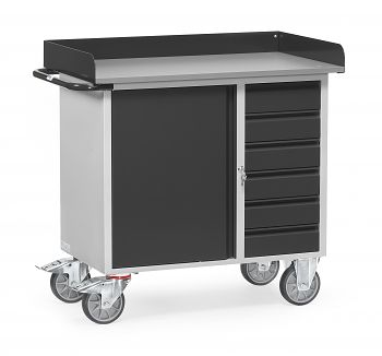 Werkstattwagen mit Abrollrand LxBxH: 1080 x 590 x 995 mm