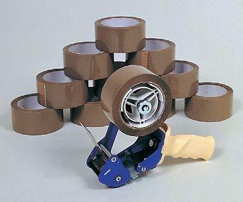 Klebebandabroller-Set braun bestehend aus: