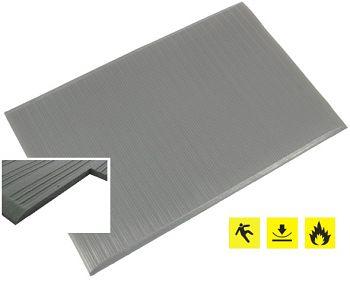 1-lagige Anti-Ermüdungsmatte gerippt, grau BxL:  0,6 x 0,9 m