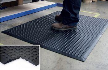 Anti-Ermüdungsmatte  (Endmatte)VE-2St Oberfläche genoppt schwarz 0,6 x 0,9m