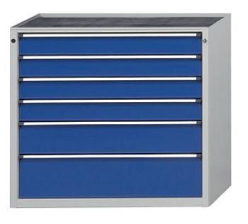 Schubladenschrank 1060 x 675 x 980 mm 6 Schubladen 4x120, 1x180,1x240 mm FH