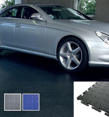 PVC - Bodenfliese Eco schwarz genoppt 500 x 500 mm 1 VE= 4 Stck.
