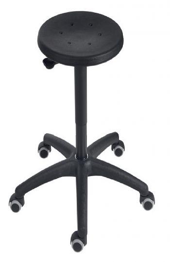 Universal-Arbeitshocker Mod. 3520 Pu schwarz mit Rollen