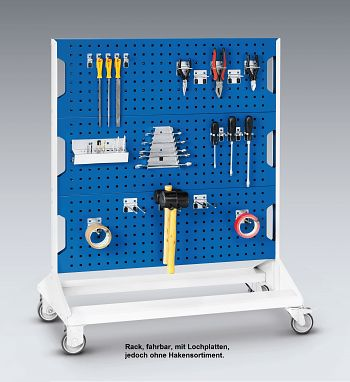 Perfo-Rack fahrbar unbestückt BxTxH 1000 x 550 x 1250 mm