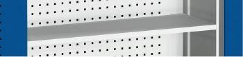 Perfo-Hängeschrank mit Lochplatte, Fachboden BxTxH 1050 x 325 x 700 mm