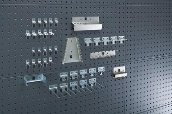 Perfo-Hängeschrank mit Lochplatte, Haltersort.PL37 BxTxH 1050x325x700 mm