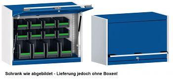 Perfo-Hängeschrank mit Schlitz-Rück- wand u. Klapptür BxTxH 800x325x600 mm