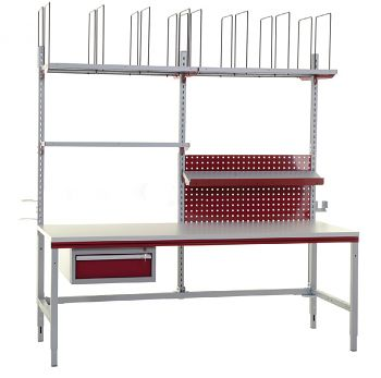 Komplettpackplatz Variante 2 B x T x H 2000 x 800 x 690-960 mm