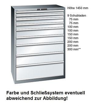 Schubladenschrank Selection Lichtgrau BxTxH 1023 x 725 x 1450 mm, mit