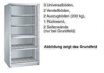 Anbaufeld Schubladenregal BxTxH 1117 x 706 x 2200 mm mit
