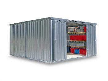 Material-Lagercontainer 2er- Kombination, verz.,vormontiert