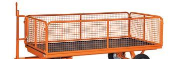 4 Stahlrohrwände mit Drahtgitter für Ladefläche 2000 x 1000 mm