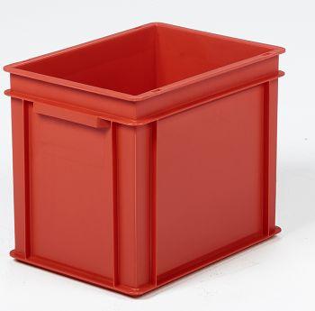 Mehrwegbehälter, 400x300x320mm rot, Boden-u.Seiten geschlossen