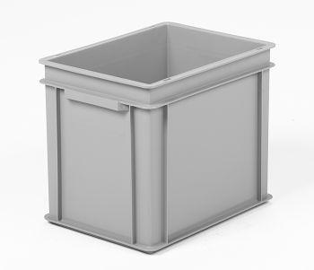 Mehrwegbehälter, 400x300x320mm grau, Boden-u.Seiten geschlossen