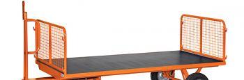 2 Stahlrohrwände mit Drahtgitter für Ladefläche 2000 x 1000 mm