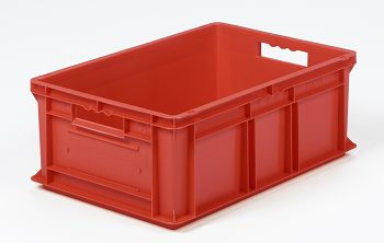 Mehrwegbehälter, 600x400x220mm rot, Boden-u.Seiten geschlossen
