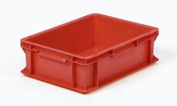Mehrwegbehälter, 400x300x120mm rot, Boden-u.Seiten geschlossen