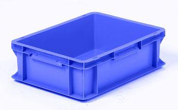 Mehrwegbehälter, 400x300x120mm blau, Boden-u.Seiten geschlossen