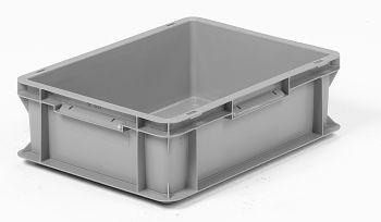 Mehrwegbehälter, 400x300x120mm grau, Boden-u.Seiten geschlossen
