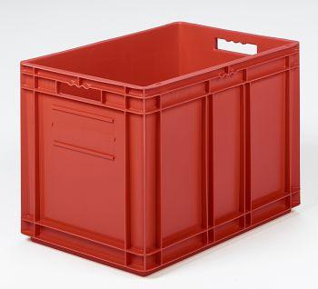 Mehrwegbehälter, 600x400x420mm rot, Boden-u.Seiten geschlossen
