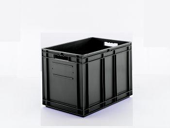 Euro-Kasten, leitfähig/schwarz LxBxH 600x400x420 mm