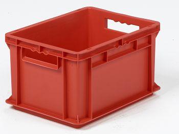 Mehrwegbehälter, 400x300x220mm rot, Boden-u.Seiten geschlossen
