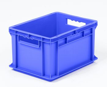 Mehrwegbehälter, 400x300x220mm blau, Boden-u.Seiten geschlossen