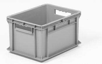 Mehrwegbehälter, 400x300x220mm grau, Boden-u.Seiten geschlossen