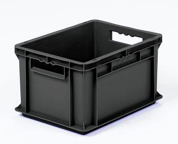 Euro-Kasten, leitfähig/schwarz LxBxH 400x300x220 mm