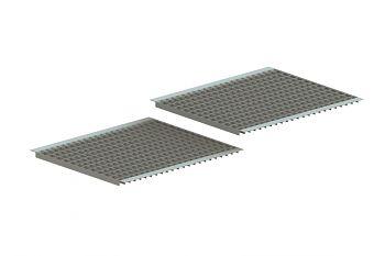 Gitterrostboden eingelegt MW: 60 x 40 BxT: 2700 x 800 mm