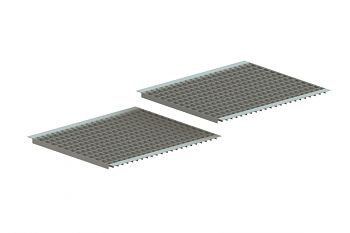 Gitterrostboden eingelegt MW: 50 x 40 BxT: 3600 x 1100 mm