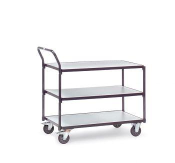 ESD-Tischwagen 850x500mm mit 3 Böden