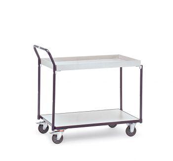 ESD-Tischwagen 850x500mm mit 2 Kastenböden