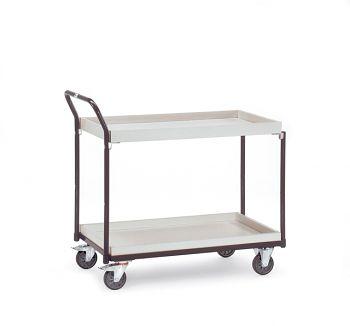 ESD-Tischwagen 850x500mm mit 2 Etagenböden