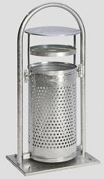 Kombi-Ascher mit Schutzdach LxBxH: 395 x 395 x 910 mm
